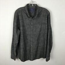 Topman Shirt Size XL Classic Fit Cotton Gray Button Front Long Sleeve Mens