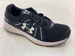 Men's Under Armour UA Dash RN 2 Black White Mesh Athletic Shoes 1285671-001 NEW