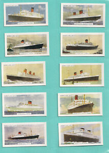 Morning Foods: The Cunard Line (1957). Full set of 12. Mint.