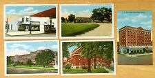 Lot of 5 Vintage Postcards ALL ALBANY, GA Georgia LEE DRUG STORE Country Club +