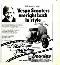 """(NPBK09 ADVERT 5X5"""" KID JENSEN VESPA SCOOTERS ARE RIGHT BACK IN STYLE"""