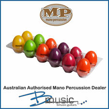 12 x Mano Percussion Egg Maracas - 6 brightly coloured shakers - Brand NEW