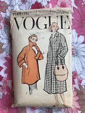 VOGUE 9149 sewing pattern 1957 COMPLETE vintage Coat 1950s