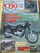 CLASSIC BIKE GUIDE FEB 1995 LAST MATCHLESS TOURER TRIUMPH VELO VINCENTS MUZ