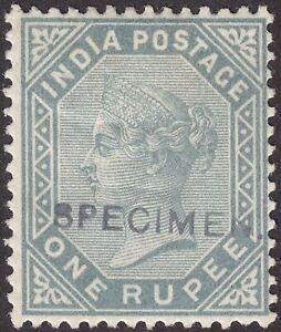 India 1883 Queen Victoria 1r Slate SPECIMEN Overprint Mint SG101s