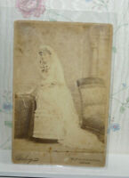 Antique Bride Lovely Wedding Cabinet Card - Chicago, Illinois