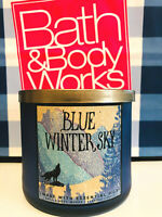 Bath and Body Works Blue Winter Sky With Essential Oils 3 Wick Scented Candle