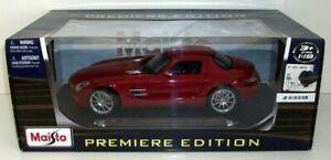 MAISTO 1/18 - 36196 MERCEDES BENZ SLS AMG - RED