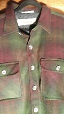 VTG HEAVY FLANNEL RUGGED RANCHWEAR WORKWEAR WOOL BLEND SHIRT JACKET XL XXL 2XL