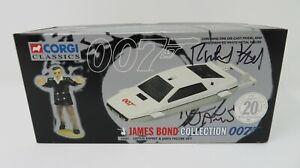 CORGI JAMES BOND 007 LOTUS ESPRIT & JAWS FIGURE 65001 SIGNED BY RICHARD KIEL