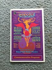 Grande Ballroom Program 40th Anniversary Big Brother Canned Heat Grimshaw