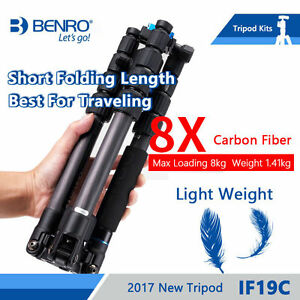 BENRO  IF19C Tripod Carbon Fiber Portable Travel Tripods