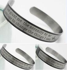20x Lord's prayer & Serenity Prayer Bibie Stainless steel Bracelets cuff Bangles
