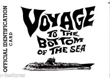 VOYAGE TO THE BOTTOM OF THE SEA Seaview HONORARY ADMIRAL 1960s Premium Card RARE