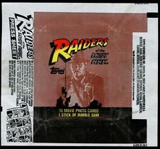 Indiana Jones Raiders Of The Lost Ark, Advert 1 Trading Cards Wrapper #W17