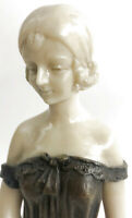 Collectible Bronze Statue *GIFT* Lady Bust Patina Figure Nouveau Victorian Sale