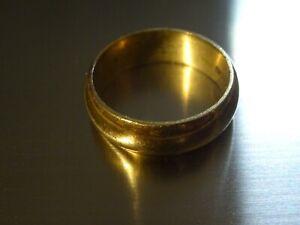 Vintage 14K Yellow Gold Wedding Band 5.83 Grams Size 6