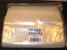 "10""X13"" 2 MIL Poly Clear Ziploc Zipper Ziplock Bags - 100 ea"