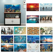 Sea Aquarium Background Sticker Poster Fish Tank Backdrop Decor Self-Adhesive