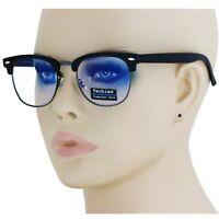 Blue Light Blocking Gaming Computer Reading Glasses Anti Glare Clubmaster Frame