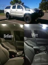TOYOTA HILUX- DUAL CAB INTERIOR LED LIGHT KIT & LICENSE PLATE LEDS! 2006-2012