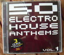 3 × CD BOX compilation 50 Electro House Anthems vol.1 2008 MINT NEW elegante record