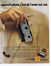 PUBLICITE ADVERTISING 064 1973 KODAK Instamatic 300