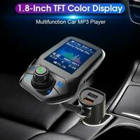 Car Bluetooth 5.0 Receiver FM Transmitter Kit Dual USB MP3Player Charger D7L9