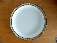 "Luxor by Denby-Langley Tan Teal Green Brn Geomet Edge 1 Dinner Plate 10 1/4"""