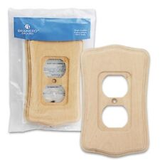 NEW Brainerd Deluxe Wood Outlet Switch Wall Plate Cover Beveled Edge