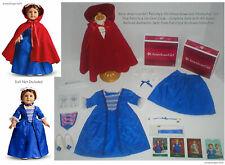 American Girl Felicity's Christmas Holiday Gown & Stomacher Set + Cardinal Cloak