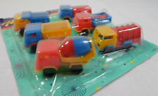VTG 80's LOT OF 6 x 2'' TRUCKS PLASTIC TOY CARS PENNY TOYS KARAMPOLA LUCKY CUP C