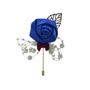 Bridal Groom Bride Boutonniere Artificial Corsage Flower Brooch Rose Cloth Hot c