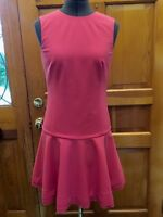 BNWT! RED VALENTINO Raspberry/Red-Pink Beautifully Lined Dress w/Scalloped Hem!