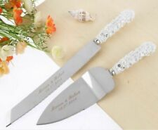 Personalized Wedding Resin Cake Knife Serving Set Custom Party Decoration Gifts