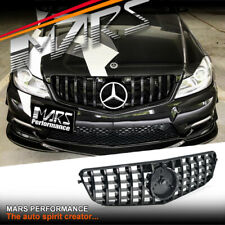 AMG GT Style Gloss Black Bumper Bar Grille for Mercedes-Benz C-Class W204 C204