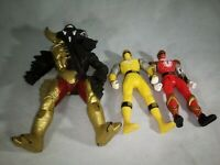 Bandai Vintage MMPR Power Rangers Lot Of 3 Yellow Red and Villain