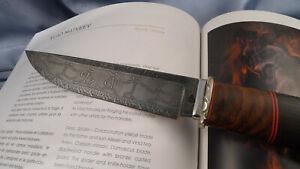 JAGDMESSER Mosaik-Karbon-Damast Tänzende Jungs HUNTING KNIFE mosaic damascus