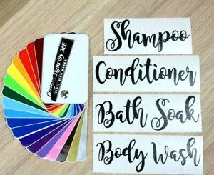 Shampoo Conditioner Body Wash Bath Soak Bottle Stickers Labels Decal Adhesive BL