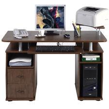 Table de bureau pour ordinateur PC avec tablette imprimante, tablette à clavier