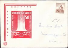 Austria - 1959 - 1 Schilling Chocolate Mariazell Church  #622 on First Day Cover