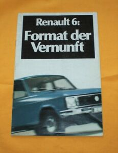 Renault 6 1978 Prospekt Brochure Depliant Catalog Folder Prospetto Broschyr