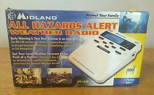 MIDLAND ALL HAZARDS ALERT WEATHER RADIO WR100 BRAND NEW IN THE BOX