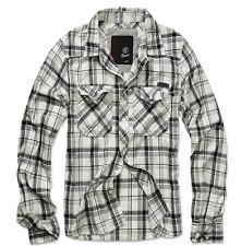 Brandit hombre cuadros camisa franela de camiseta checked Holzfeller rojo-negro EU L