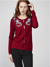 Joe Browns SAVE 33% Size UK 10 Shoulder Floral Print Detail Cardigan Burgundy