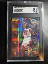 Michael Jordan 1998 Bowman's Best Techniques T2 Atomic Refractor SGC 8