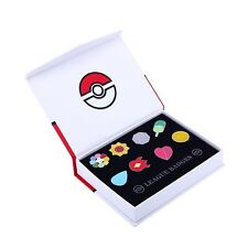 Pokemon KANTO League Gym Badge Pin Brooch Cosplay Gift Collector Set Gen 1