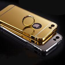Luxury Aluminum phone case Metal Bumper +Mirror PC back cover protective skins