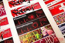 #Boosted Life EKG Because Turbo Japan Style Decal Aufkleber Garrett Holset HKS