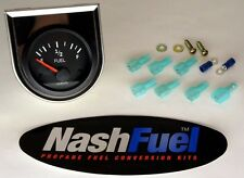 0-90 OHM DASH MOUNTED REMOTE FUEL LEVEL GAUGE PROPANE TANK SIGHT DIAL ELECTRIC